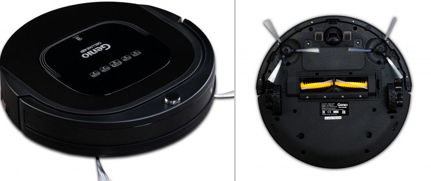 робот пылесос genio deluxe 370 black