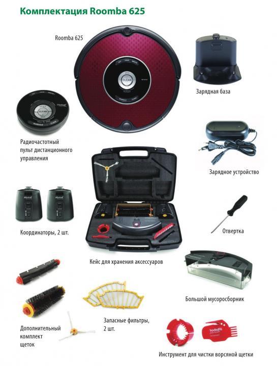 iRobot-Roomba-625-комплектация