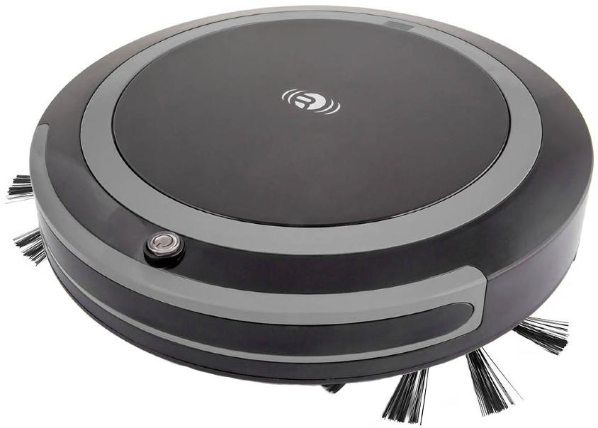 Черный-робот-пылесос-Rekam-RVC-670G
