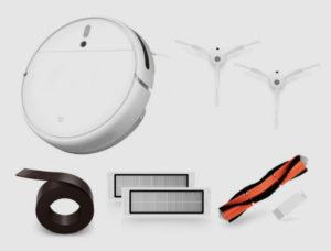 Комплект поставки xiaomi робот пылесос 1c