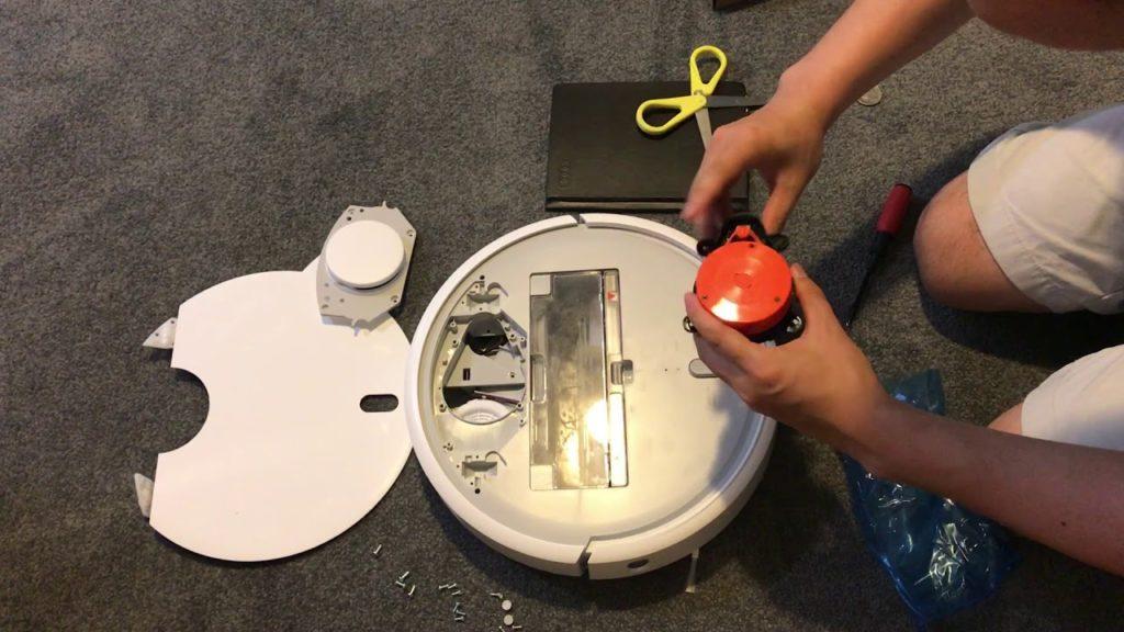 Робот пылесос xiaomi – не крутится лазер