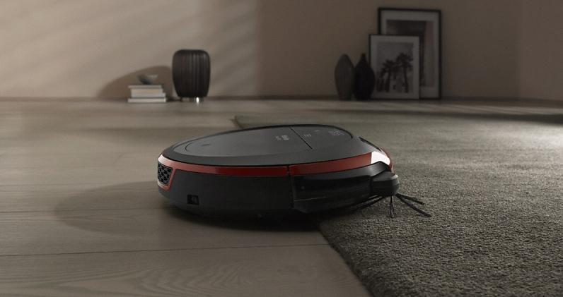 Робот пылесос не едет по черному
