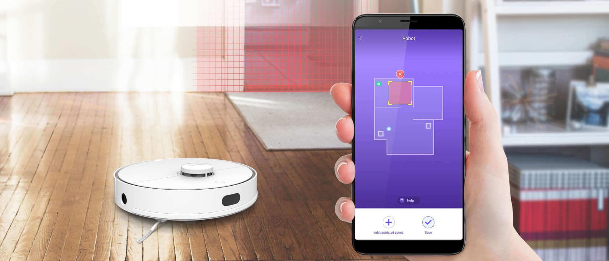 360 s5 робот - приложение, построение карты помещения