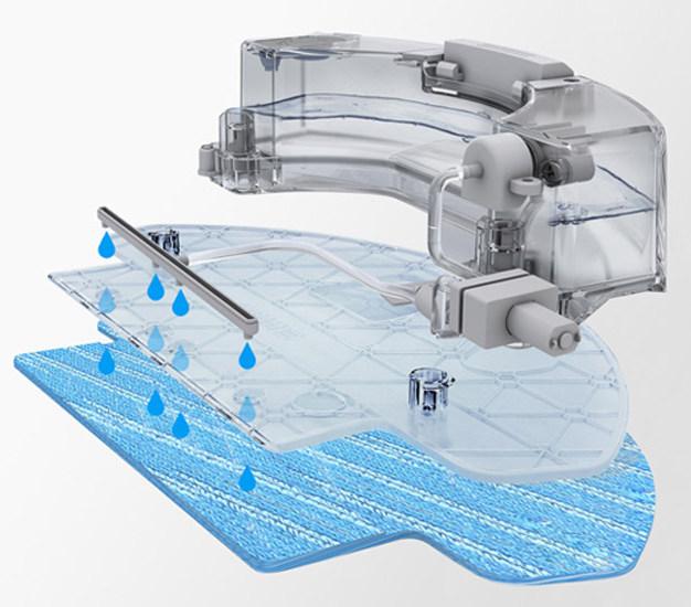 Автоматическая подача воды на тряпку в роботе пылесосе