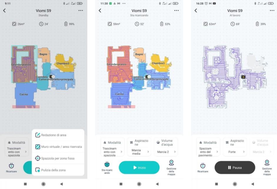 робот пылесос с базой самоочистки viomi s9 - приложение
